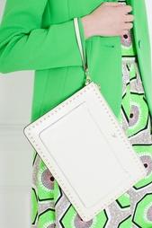 Кожаный клатч Zip and Go Pouch Studded Leather Diane von Furstenberg
