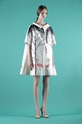 Платье из хлопка и шелка Vika Gazinskaya