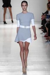 Платье из хлопка и шелка Victoria Beckham