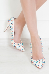 Кожаные туфли Pigalle Spikes 100 Christian Louboutin