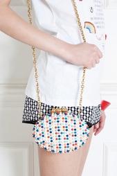 Кожаная сумка Mina Clutch Christian Louboutin