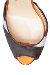 Туфли из шкуры пони и замши Pina Spike 120 Christian Louboutin