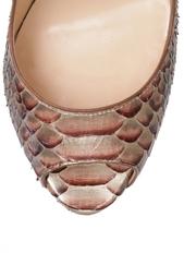 Туфли из кожи питона Lady Peep 150 Christian Louboutin