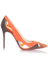 Туфли из кожи и пластика Galata 100 Christian Louboutin