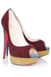 Замшевые туфли Lady Peep 150 Christian Louboutin
