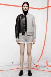 Бомбер из кожи и хлопка T by Alexander Wang