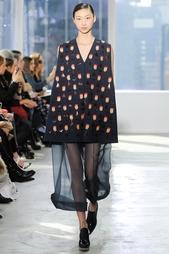 Платье из шерсти и шелка Delpozo
