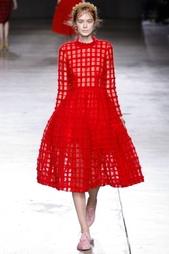 Платье из шерсти и полиамида Simone Rocha