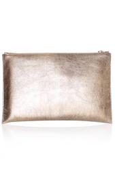 Клатч из металлизированной кожи Rochas