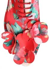 Ботинки с цветочным принтом Simone Rocha