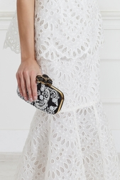 Клатч с бисерной вышивкой Oscar de la Renta