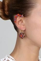 Позолоченные серьги с кристаллами Oscar de la Renta