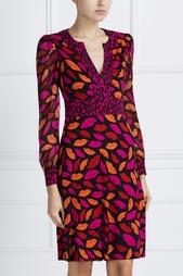 Шелковое платье Leyah Combo Diane von Furstenberg