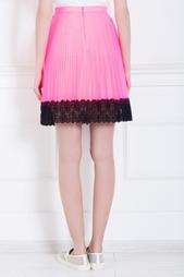 Плиссированная юбка с кружевом Christopher Kane