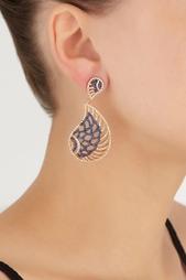 Серьги с цирконами Feathers or Wings Jewel Mania