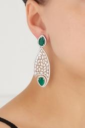 Серьги с цирконами Drop Earrings Jewel Mania