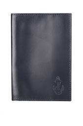 Кожаная обложка для паспорта «Якорь» Gourji