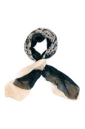 Кашемировый платок «Кружево в квадрате» Gourji