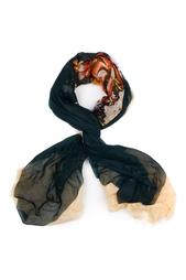 Кашемировый платок «Букет в квадрате» Gourji