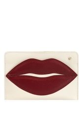 Кожаная визитница Pouty Passport Holder Charlotte Olympia