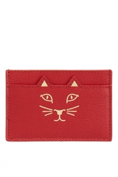 Кожаная визитница Feline Card Holder Charlotte Olympia