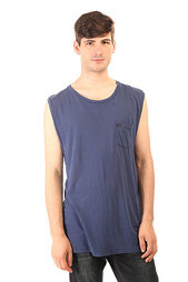 Майка Globe Linen Cutoff Washed Blue