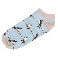 Носки низкие женские Запорожец Ласточки Голубой