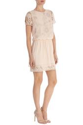 Платье из шелка с вышивкой Karen Millen