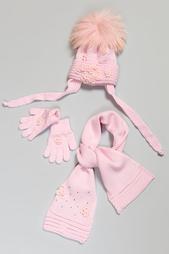 Комплект шапка, шарф, перчатки Joli Bebe