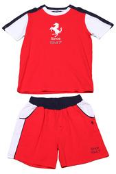 Костюм: футболка, шорты Ferrari