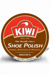 Крем для обуви КОРИЧНЕВЫЙ KIWI