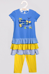 Комплект: платье, бриджи PlayToday