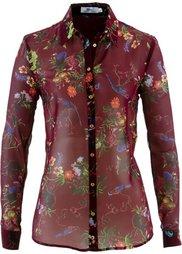 Шифоновая блузка (каменно-бежевый с принтом) Bonprix