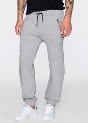 Трикотажные брюки Slim Fit (светло-серый меланж) Bonprix