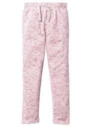 Меланжевые трикотажные брюки, Размеры  116-170 (антрацитовый/меланж цвета бело) Bonprix