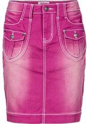 Джинсовая юбка-стретч (синий) Bonprix