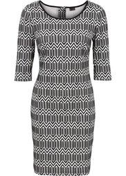 Жаккардовое платье (черный) Bonprix