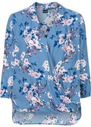 Блузка с цветочным принтом (ярко-розовый в цветочек) Bonprix
