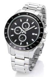 Мужские часы на металлическом браслете (черный) Bonprix