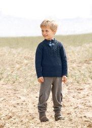 Трикотажные брюки, Размеры  80-134 (серый меланж) Bonprix