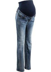 Мода для беременных: джинсы с прямыми узкими брючинами (синий «потертый») Bonprix