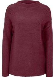 Пуловер укороченного дизайна (цвет белой шерсти) Bonprix