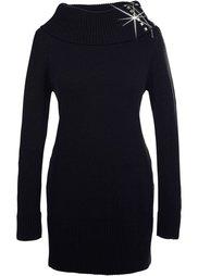 Удлиненный пуловер (цвет белой шерсти) Bonprix