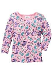 Для малышей: футболка из биохлопка с длинным рукавом (2 шт.), Размеры  68/74-104/110 (цвет белой шерсти + розовая пу) Bonprix
