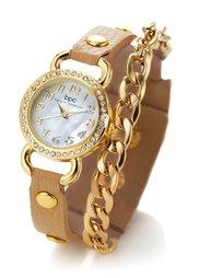 Часы с цепочкой (кремовый/золотистый) Bonprix