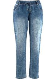 Трикотажные брюки в стиле деним, cредний рост (N) (темно-синий) Bonprix