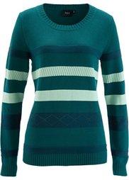 Пуловер (виноградный в полоску) Bonprix