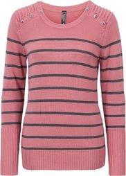 Пуловер (цвет белой/черный шерсти в пол) Bonprix
