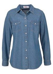 Джинсовая рубашка (темно-синий «потертый») Bonprix