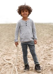 Пуловер, Размеры  80/86-128/134 (светло-серый меланж) Bonprix